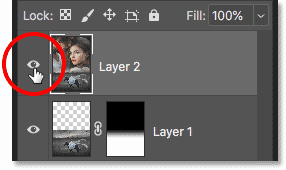 Toggle the texture on and off with the visibility icon in the Layers panel