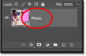 Renaming the Smart Object in Photoshop