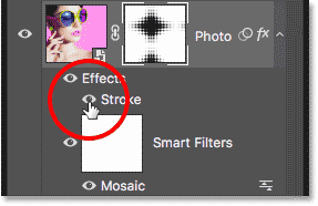 The Stoke layer style visibility icon.