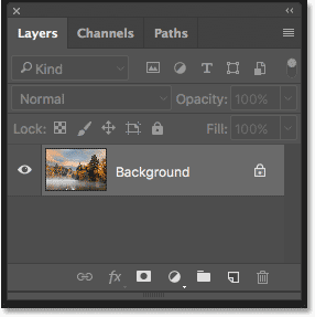 The Layers panel showing the original image