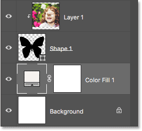 The Layers panel showing the new Solid Color fill layer.