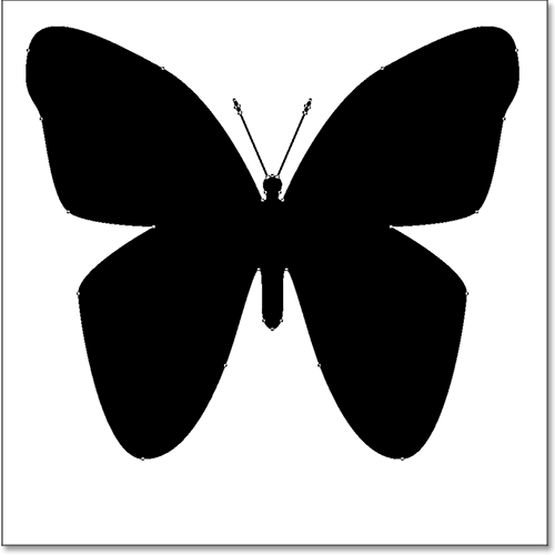 A butterfly custom shape drawn in Photoshop.