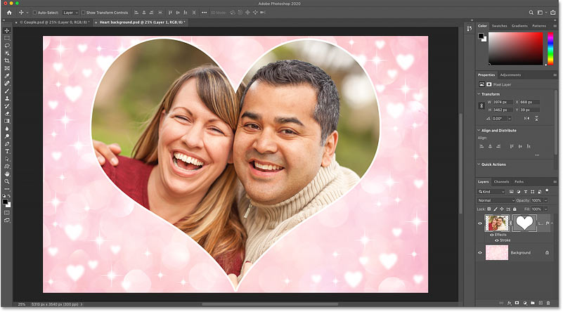 How to place an image inside a shape with Photoshop