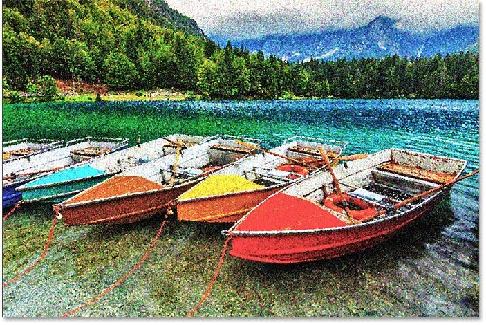 Photoshop pointillism effect