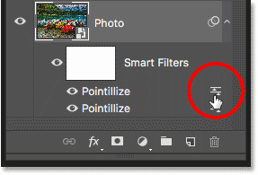 Re-applying the Pointillize filter using a smaller Cell Size value