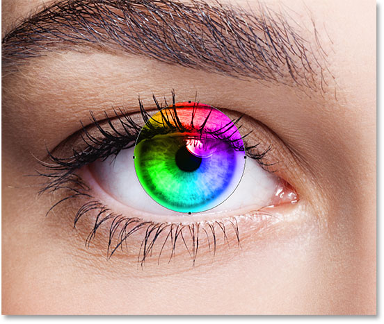 Rainbow Color Eyes Effect With Photoshop