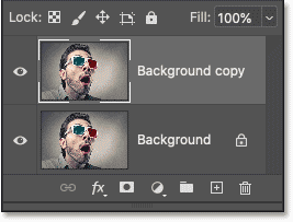 A Background copy layer appears above the original