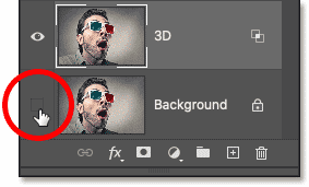 Turning the Background layer in Photoshop's Layers panel
