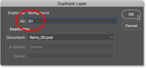 Naming the layer 3D