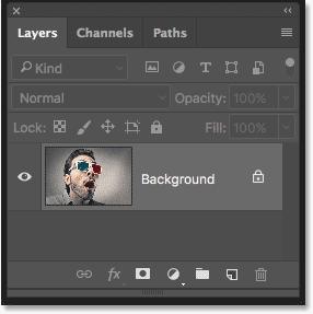 Bảng điều khiển Lớp trong Photoshop hiển thị hình ảnh gốc