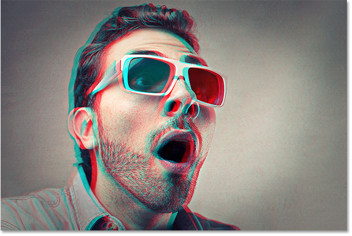The final retro 3d movie effect in Photoshop