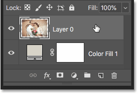 Selecting the image in the Layers panel