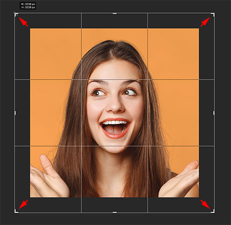 Adding more canvas space with the Crop Tool in Photoshop