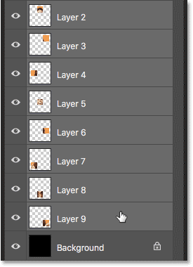 Selecting all other squares at once in the Layers panel