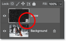 The smart object thumbnail on the smart object in Photoshop's Layers panel