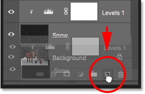 Making a copy of the Snow and Levels layers
