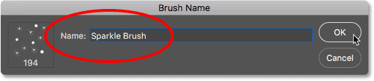 Naming the new brush.