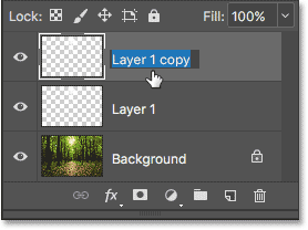 Renaming the top layer in the document.