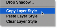 How to copy a layer style (effect) in Photoshop