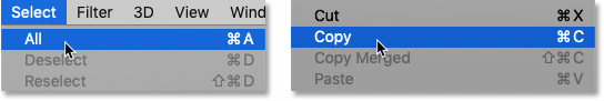 Selecting and copying the second image.