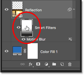 Loading the Smart Filters layer mask as a selection in Photoshop