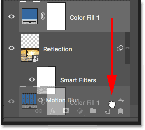 Moving the blue fill layer below the Reflection layer