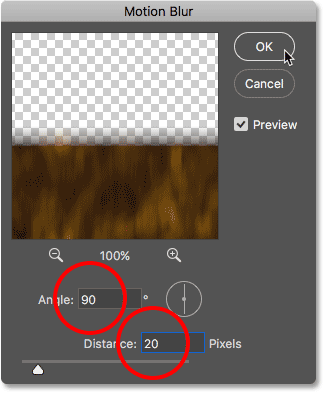 Adding motion blur to the water reflection in Photoshop
