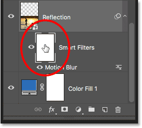 Selecting the layer mask for the Smart Filters