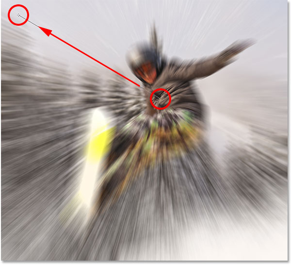 Radial Blur Action Effect In Photoshop