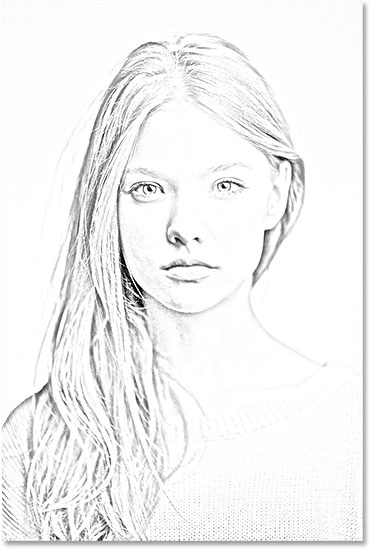 Line Drawing Effect Photo : Portrait photo to pencil sketch with photoshop cs tutorial