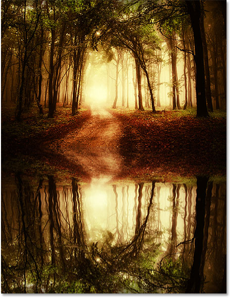 A second example of the water reflection effect in Photoshop CS6.