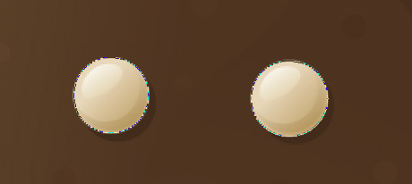 Adobe Photoshop tutorial image: A second hole is now cut out of the intial shape, creating the right eye.