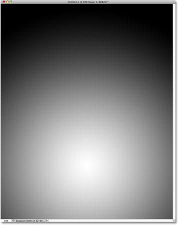 Photoshop radial gradient.
