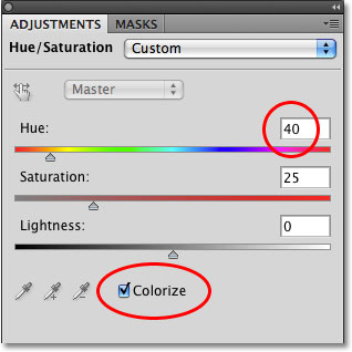 The Adjustments Panel in Photoshop CS4.