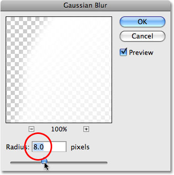 Photoshop's Gaussian Blur filter. Image © 2009 Photoshop Essentials.com