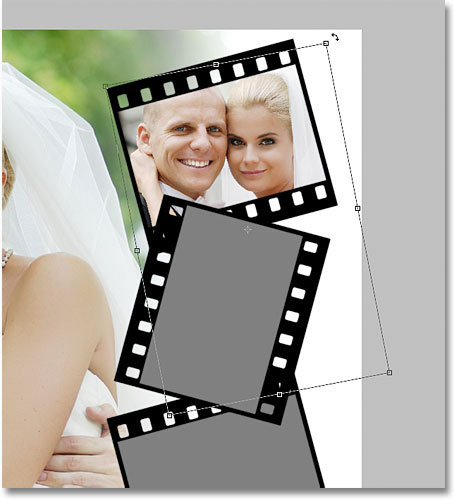 Resizing and rotating the image inside the film strip. Image licensed from iStockphoto by Photoshop Essentials.com