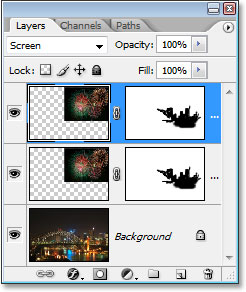 Duplicating the fireworks layer.