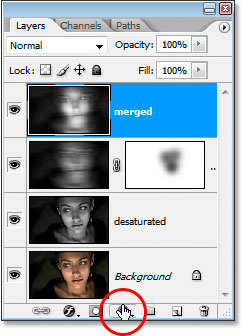 Click the New Fill Or Adjustment Layer icon