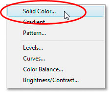 Select Solid Color