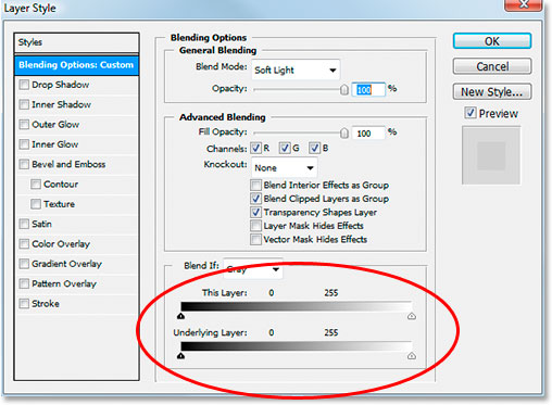 Photoshop's Layer Style dialog box