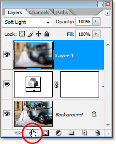 Click the Add Layer Style icon