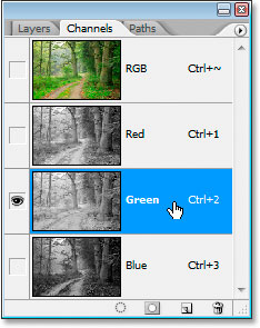 Photoshop's Channels palette
