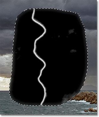 The image after dragging the black slider.