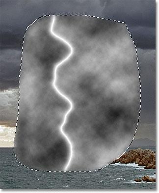 The lightning bolt now appears white.