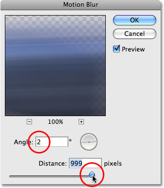 The Motion Blur filter in Photoshop.