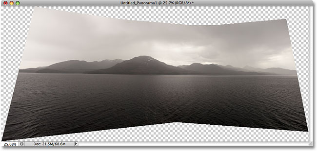 A seamless panoramic image created with the Photomerge command in Photoshop CS4.