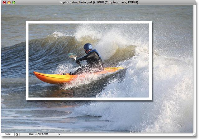 应用于图像的阴影。 图片 © 2008 Photoshop Essentials.com。