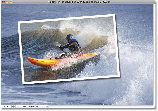背景现在用采样的颜色着色。 图片 © 2008 Photoshop Essentials.com。