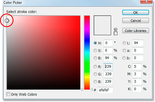 Photoshop's 'Color Picker'.
