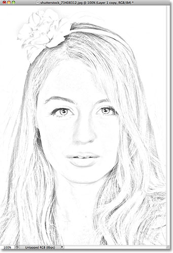 Photoshop photo to pencil sketch effect. Image © 2011 Photoshop Essentials.com.
